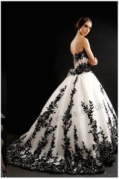 Google Image Result for http://www.mypromdresses.co.uk/341-1651-thickbox/black-matches-white-strapless-chapel-train-organza-wedding-dress-8203customize.jpg