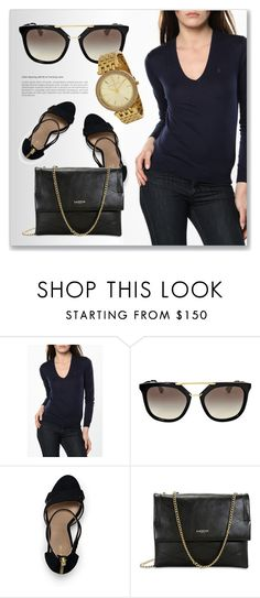 """Keeping It Simple"" by jomashop ❤ liked on Polyvore featuring Prada, Lands' End, Lanvin and jomashop"