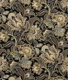 Swavelle / Mill Creek Valdosta Blackbird Fabric - $24.28 | onlinefabricstore.net