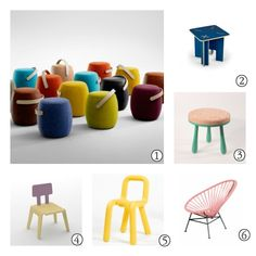 Terrific colored seating for kids' rooms via Petit & Small. A #CanDoBaby! fave.