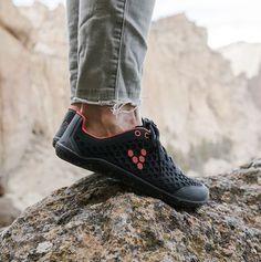 Sneaker Das Beste Vivobarefoot Primus Trek Black Womens Leather Low-top Hiking Trekking Trainers