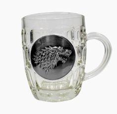 Hadesflamme - Merchandise Onlineshop: Game of Thrones Bierglas (Glas) Stark Metallic Log...