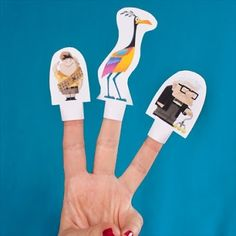 Títeres para los dedos de la película Up. Indicaciones e imprimibles.