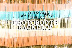 Confetti Sunshine: DIY : fringed photobooth backdrop for cheap! Diy Photo Backdrop, Diy Photo Booth, Photo Props, Photo Booths, Birthday Photo Background, Confetti System, Diy Fotokabine, Birthday Diy, 14th Birthday