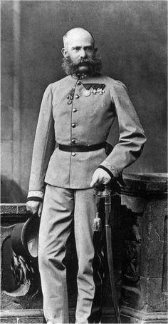 Emperor Franz Joseph I of Austria-Hungary in the parade dress of the Kaiserjäger, 1879. WW1 put an end to his reign as well as to the Austro-Hungarian Empire.