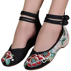c0e77ae45 Sibba Womens Canvas Heel Mary Jane Ladies Lightweight Office Work Strap  Summer Shoes (4)