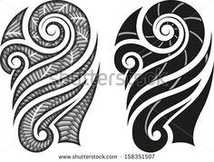 Illustration about Maori styled tattoo pattern fits for a shoulder or an ankle. Illustration of stroked, ethnic, swirl - 24843320 Maori Tattoos, Filipino Tattoos, Samoan Tattoo, Body Art Tattoos, Tribal Tattoos, Polynesian Tattoos, Inkbox Tattoo, Maori Tattoo Patterns, Maori Patterns