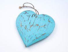 corazón rustic driftwood verde