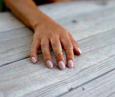 Midi Rings // Stacking Rings // Above Knuckle by PricklyHearts