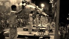 Ganga Aarti  Varanasi Black and White Full