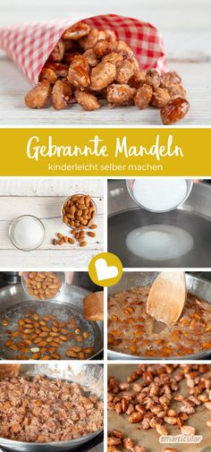 Make roasted almonds yourself - so you can do it with less Gebrannte Mandeln selber machen – so gelingt's mit weniger Zucker With this recipe for roasted almonds, the crunchy snack is easy to make yourself – without additives and with less sugar. Berry Smoothie Recipe, Easy Smoothie Recipes, Good Healthy Recipes, Snack Recipes, Easy Recipes, Coconut Milk Smoothie, Homemade Frappuccino, Cookout Food, Roasted Almonds
