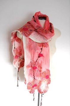 Women's Scarf Silk Scarf Spring Scarf Coral Pink Silk