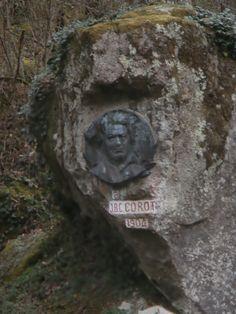 Médaillon du peintre Corot dans la vallée de la glane (87)