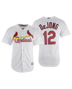 f64d4d8bd Majestic Men s Paul DeJong St. Louis Cardinals Player Replica Cool Base  Jersey - White Red M