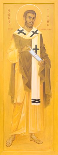 """Holy Apostle Titus, the first Bishop of Crete: """"His life is extraordinary, because it shows clearly a two virtues we must have in order to be saved. The Holy Titus possessed a longing for purity and humility in abundance...(link)"""""""