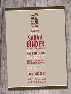 Wine Bridal Shower Invitation - Wine Lovers. $15.00, via Etsy.