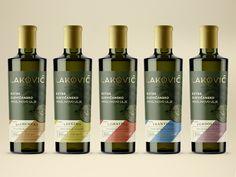 Lakovic Branding Olive Oil Label Packaging Identity Source by nvdrdesign Olive Oil Packaging, Bottle Packaging, Bottle Labels, Packaging Company, Packaging Design, Cold Pressed Oil, Olive Oil Bottles, Bottle Design, Whiskey Bottle