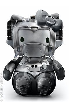 Hello Kitty/Cyberman. Check out the rest of the Hello Kitty Pop Culture series... http://www.flickr.com/photos/josephsenior/sets/72157624711491189/