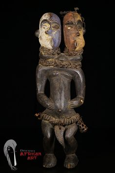 Discover African Art : Double-Headed Pende Figure from DRC