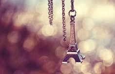 paris, eiffel tower, and necklace image