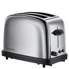 Buy Russell Hobbs 23310 Classic 2 Slice Toaster - St/Steel at Argos. Thousands of products for same day delivery or fast store collection. Russel Hobbs, Chester, Stainless Steel Toaster, Kettle And Toaster, White Gloss Kitchen, Flat Ideas, Small Kitchen Appliances, Vintage Design, Home Staging