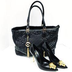 Versace  Size 40.5 Palazzo stiletto pump with Gold Medusa aPLDTW W/ box  6513-13192 $299.99  Leather quilted Vanitas Barocco shoulder Bag 6513-13190 $849.99  Buckhead To purchase call  770.390.0010 ex 1  #alexissuitcase #buckhead #atl #atlantaconsignment #thriftatl #resale #highenddesigner #consignment #luxury #designer #resaleatlanta #boutique #atlanta #fashioninspiration #shopmycloset #upscaleresale  #fashion #style by alexissuitcase