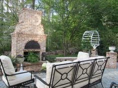 Outdoor Fireplace Brick Design Ideas, Pictures, Remodel, and Decor - page 4