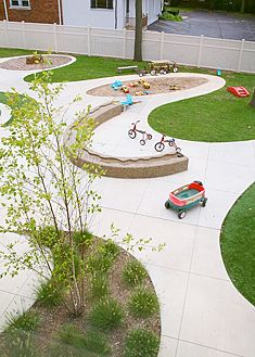 Towsley Day Care Center outdoor play yard