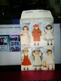Butterick Pattern 4699 for 18 inch doll outfits Copyright 1996. American Girl Doll clothing pattern
