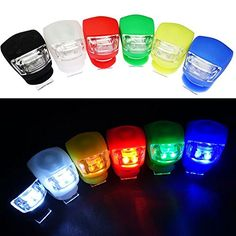 Bike Reflectors - TPTfashion 6Pcs Silicone Waterproof Frog LED Bike Bicycle Cycling Head Front Back Light Safety Alarm *** Learn more by visiting the image link.