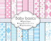 Baby Basics - Conjunto Papel Digital