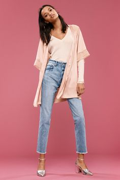 Dungarees, fringed-hem culottes, boyfriend styles — buckle up for a week of style in this season's best denim. 2010s Fashion, Fashion 2017, Womens Fashion, Fashion Trends, Rock And Roll, Decades Fashion, Boyfriend Style, Teenager Outfits, Fashion Games