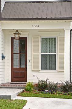 White Cottage, Curb Appeal, Acre, Garage Doors, Exterior, Windows, Building, Outdoor Decor, Home Decor