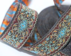 25 mm Colorful Woven Jacquard ribbon 0.98 inches by RibbonLands
