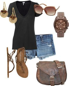Casual black and brown