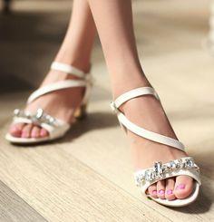 ENMAYER  Fashion Women High Heels Summer Shoes 2014 New Summer 5-color Shoes Gladiator Ankle Straps Open Toe Platform Sandals $65.00