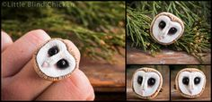 Barn Owls Polymer Clay Earrings by ~Little-Blind-Chicken on deviantART