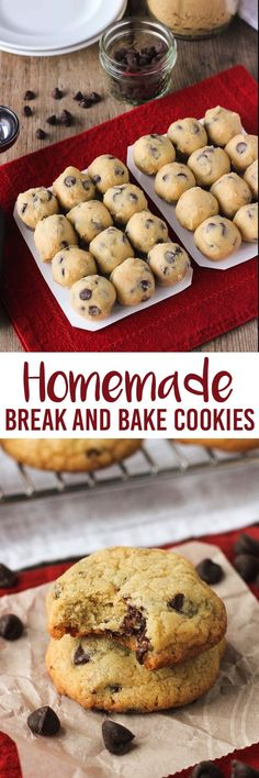There's no need to buy store-bought break and bake cookies when they're this easy! This classic chocolate chip cookie recipe can be baked directly from the fridge or freezer. Sealed packages would be an easy host/hostess gift, and having these on hand is great for baking for last minute get-togethers! mysequinedlife.com