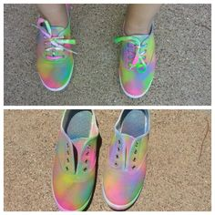 Yes!! I made me some tye dye shoes!!! I LOVE them!! Super easy diy