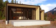 Form and Forest recently completed their first prefab, a Pioneer cabin in Golden, British Columbia with a single-pitch shed roof, prefabricated wall system and ICF foundation.