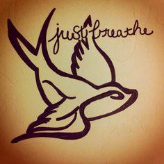 just breathe.tattoo idea