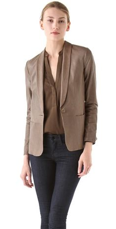 Vince Leather Blazer....Love...Love this!