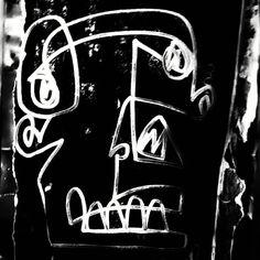 street art berlin @ rosenthaler str - photo by ironwhy - artist unknown #orcface #streetart #pigface #pignose #awkward #weirdlook #blackeye #niceteeth #weirdart #monsterface #demon #blackguy #oneliner #blackman #creature #berlin #streetartberlin #urbanart #publicart #streetartistry #mural #grafittiart #graffiti #stencilart #stencil #ironwhy #berlinmitte #rosenthalerstrasse #hausschwarzenberg