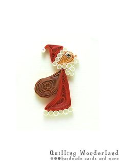 Santa Christmas Greeting card paper quilling by QuillingWonderland, $7.90