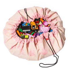 Salteluta si sac pentru jucarii 2 in 1 Pink Elephant