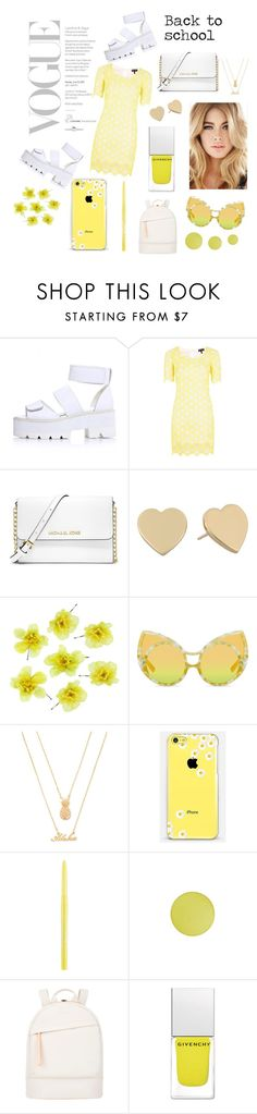 """Bach to school"" by eks02 ❤ liked on Polyvore featuring Sister Jane, MICHAEL Michael Kors, Kate Spade, Forever 21, Casetify, Stila, MAC Cosmetics, Want Les Essentiels de la Vie and Givenchy"