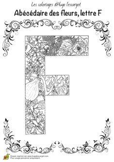 abecedaire belles fleurs a lettre f