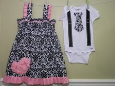 Easter outfits for my kids ?? Obviously the boys' would be a regular shirt and not a onesie haha
