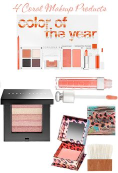 4 Coral Colored MakeupProducts  I LOOOOOVVVVVVVVVVVVVVEEEEEEEE COORRRRRRRRRRRAAAAALLL!!!!!!
