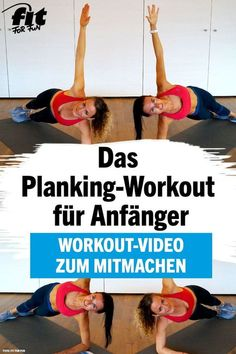 Planking-Workout: 9 Übungen für eine flachere Mitte – FIT FOR FUN With the plank you strengthen your back and tighten your abdominal muscles, but often the beginning is difficult. With our workout this is not a problem! Planet Fitness Workout, Fitness Workouts, Slim Fitness, Fun Fitness, Fitness Video, Ab Workouts, Yoga Fitness, At Home Workouts, Fitness Motivation